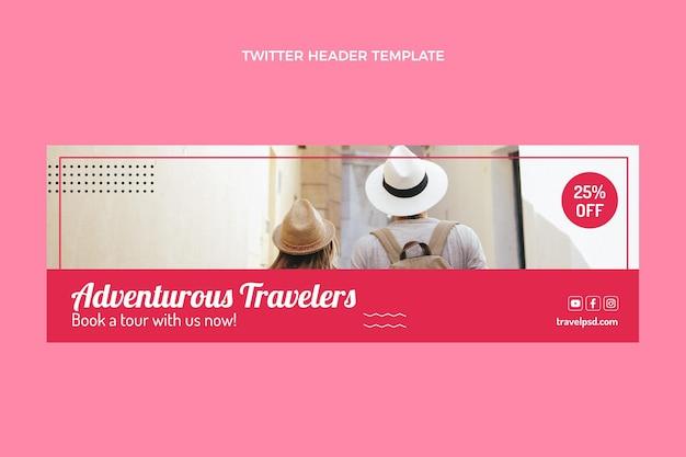 Intestazione twitter da viaggio piatta