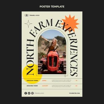 Flat travel vertical poster template
