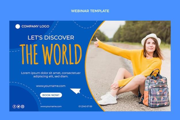 Flat travel webinar template