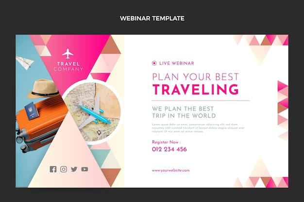 Modello di webinar di viaggio piatto