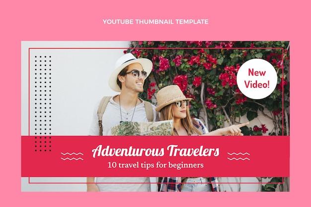 Miniatura di youtube da viaggio piatto