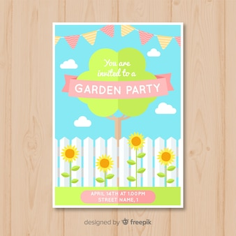Flat tree spring party poster