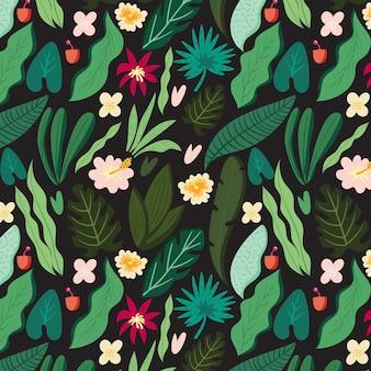 Flat tropical seamless pattern