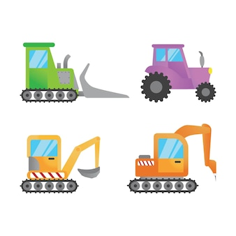フラットトラックショベルのイラスト