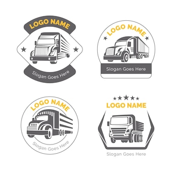Flat truck logo collection