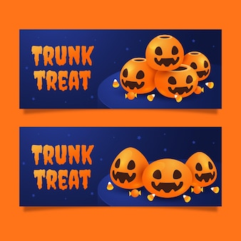Flat trunk or treat banners set