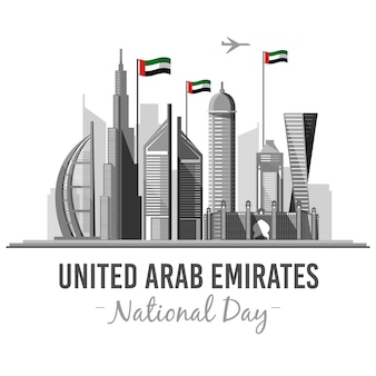 Flat uae national day