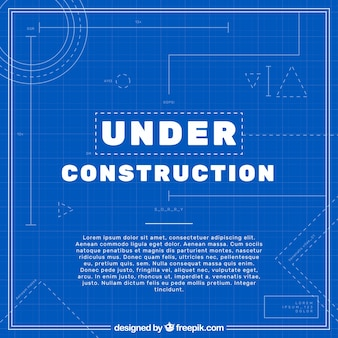 Blueprint vectors photos and psd files free download flat under construction template malvernweather Gallery