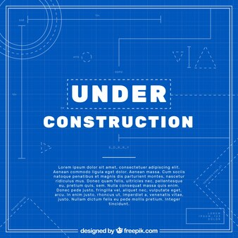 Blueprint vectors photos and psd files free download flat under construction template malvernweather Choice Image