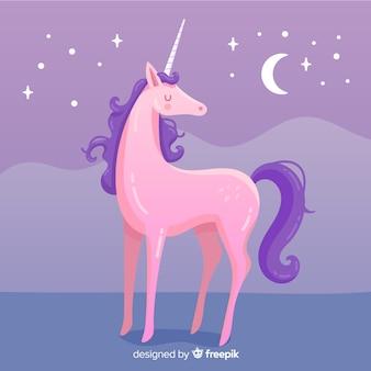 Flat unicorn backgorund