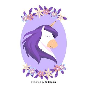 Flat unicorn background
