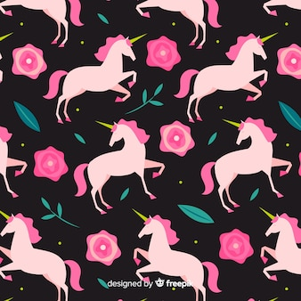 Flat unicorn pattern