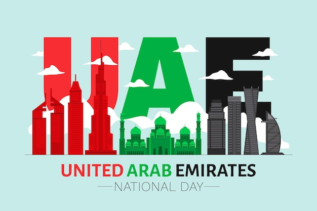 Flat united arab emirates national day