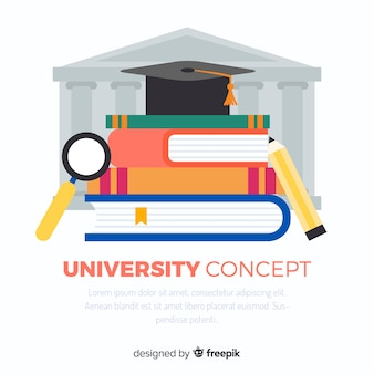 Flat university background