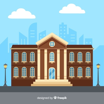 Flat university building background