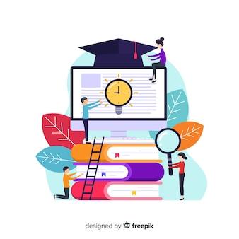 教育の要素を持つフラット大学コンセプト