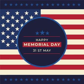 Flat usa memorial day illustration