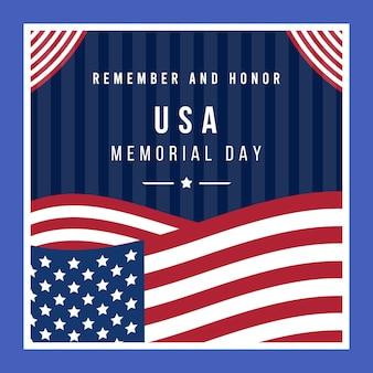 フラットアメリカ記念日のイラスト
