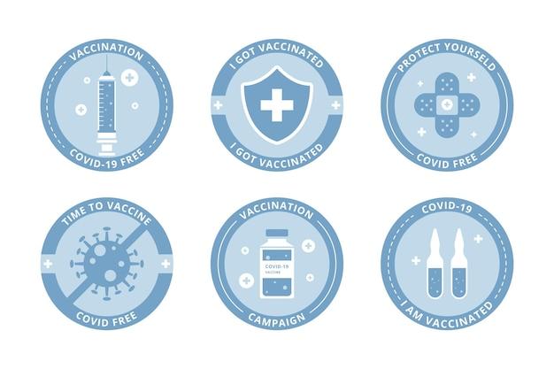 フラット予防接種キャンペーンバッジコレクション