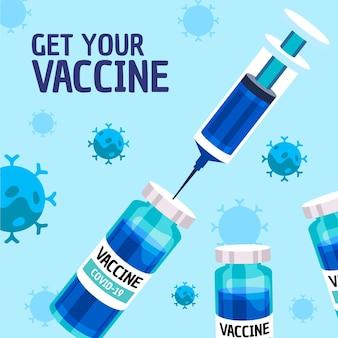 Campagna di vaccinazione piatta