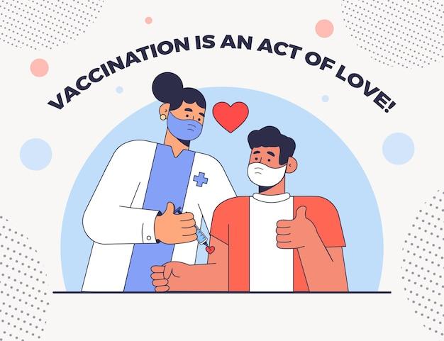 편평한 예방 접종 캠페인