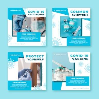 写真付きフラットワクチンインスタグラムポストコレクション