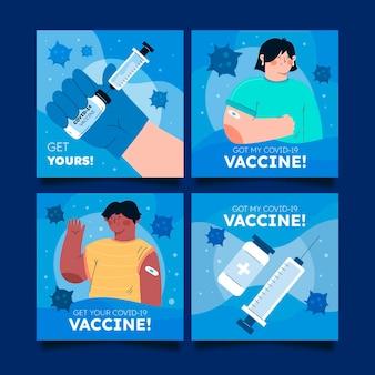 フラットワクチンインスタグラムポストコレクション