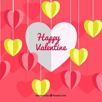 Flat valentine background