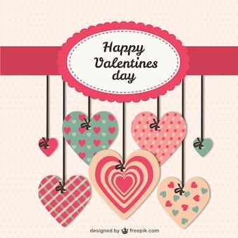 Flat valentine card