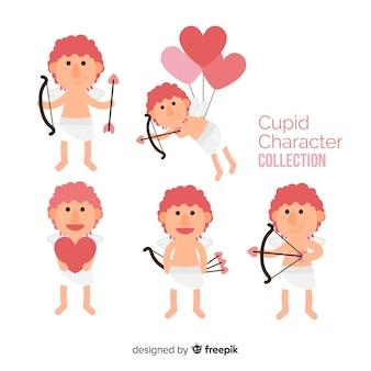 Flat valentine cupid collection