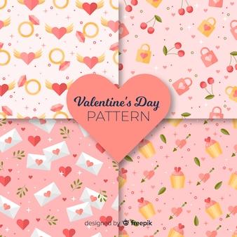 Flat valentine elements pattern pack