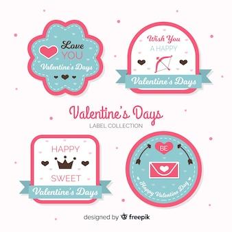 Flat valentine label collection