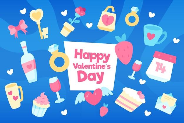 さまざまな要素を持つフラットバレンタインデーの背景