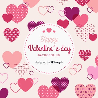 Flat valentine's day background