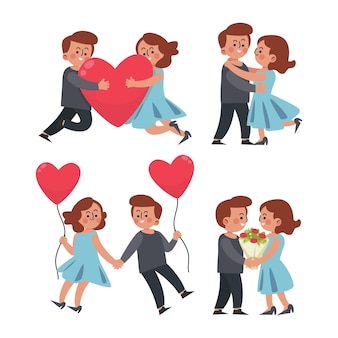 Flat valentine's day couple pack