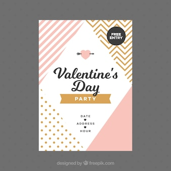 Flat valentine's day flyer/poster