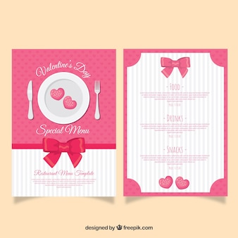 Flat valentine's day menu