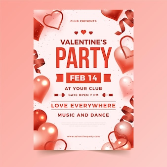 Flatvalentine's day party flyer