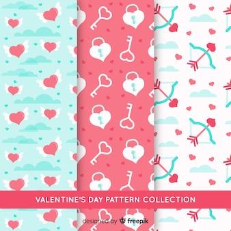 Flat valentine's day pattern