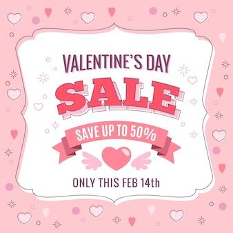 Flat valentine's day sale promo
