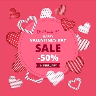마음으로 플랫 발렌타인 데이 판매