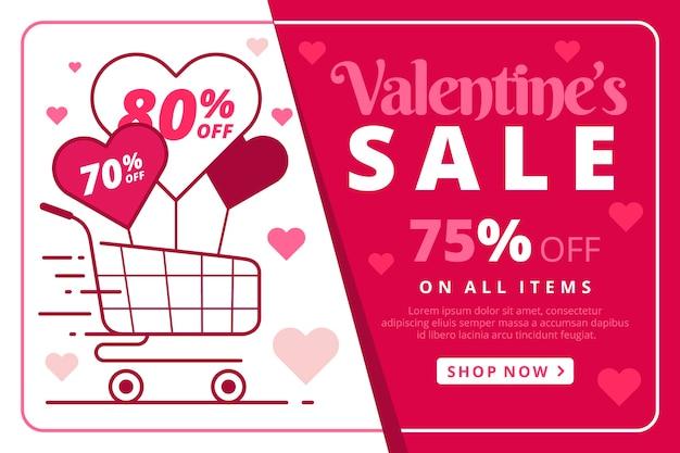 Flat valentine's day sale