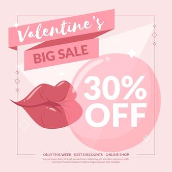 플랫 발렌타인 데이 판매