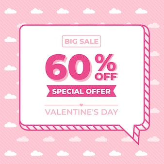 Flat valentine's day special offer sale