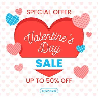 Flat valentines day sale