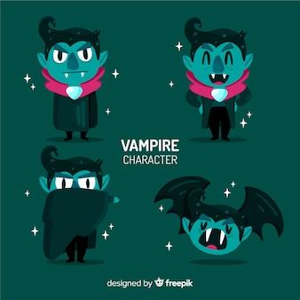 Плоская коллекция символов вампира