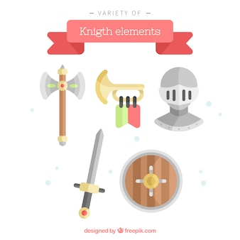 Flat variety of lovely knight elements