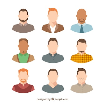 다양한 남성 아바타