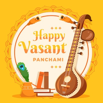 Flat vasant panchami festival