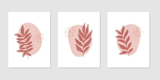 Flat vector botanical illustration set